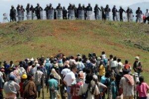 Solidaridad con el pueblo indígena y campesino del Cauca .- Foto Caracol